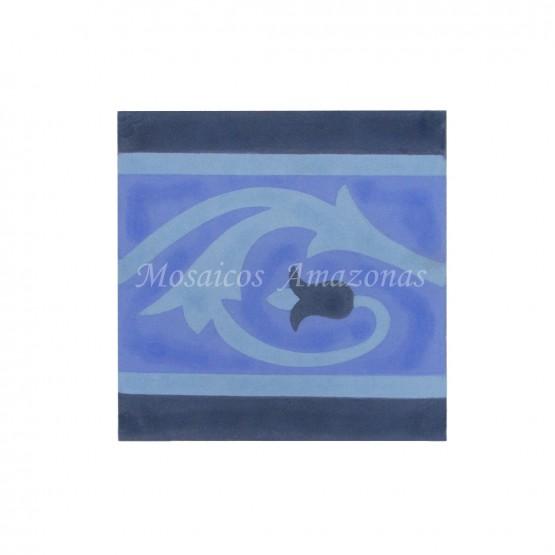 ladrilhos decorado faixa azul