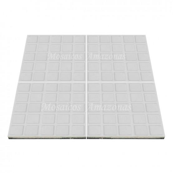 ladrilho hidráulico com 25 quadros branco tamanho 20x20
