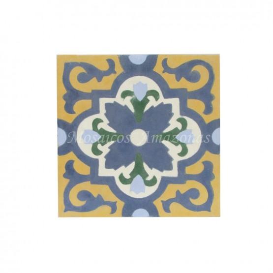 ladrilho hidráulico floral para piso