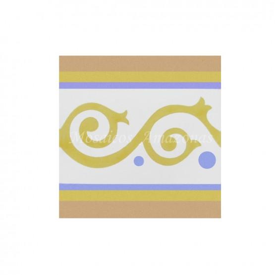 Ladrilho hidráulico faixa amarelo