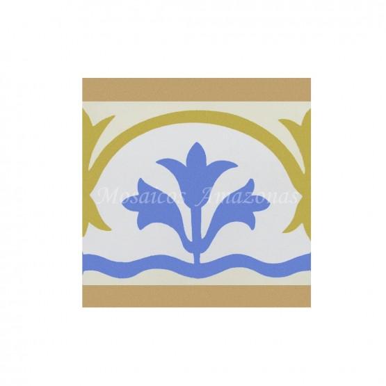 Ladrilho hidráulico de faixa floral
