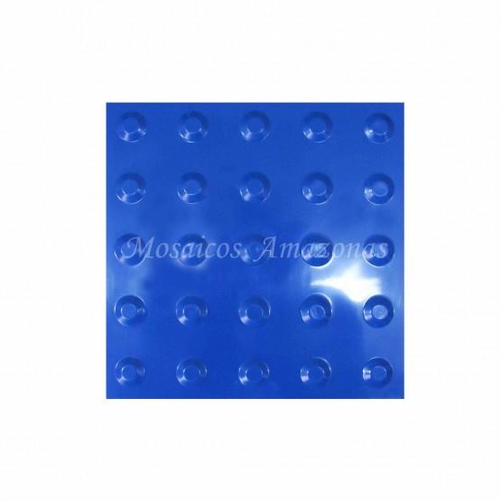 Piso tátil alerta azul 25X25 PVC