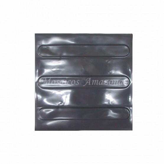 Piso tátil direcional grafite 25x25 PVC argamassado
