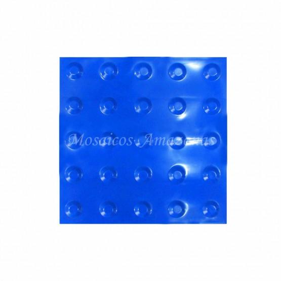 Piso tátil alerta azul 25x25 PVC argamassado