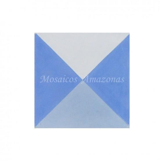 Ladrilho hidráulico decorado azul