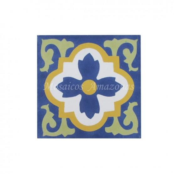 ladrilho hidráulico parede azul