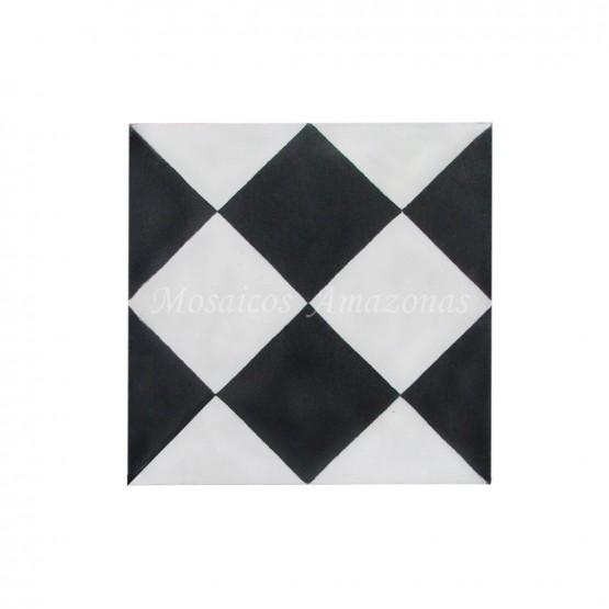 ladrilho hidráulico preto e branco
