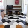 Ladrilho hidráulico hexagonal no piso