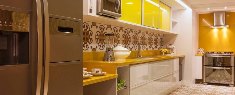 ladrilho hidráulico na cozinha
