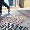 piso tátil de concreto